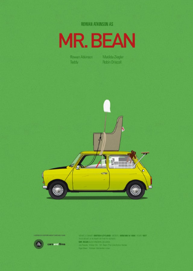 pfc10 - Posters with cars from movies by Jesús Prudencio