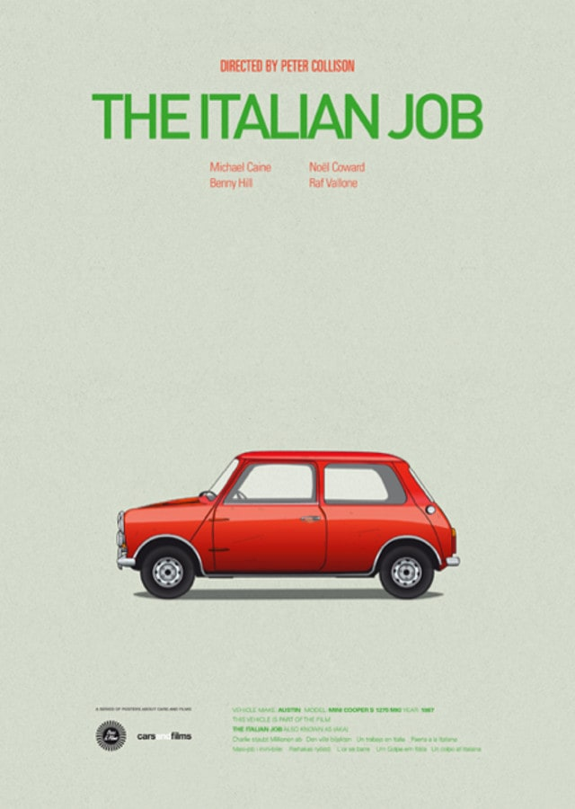 pfc11 - Posters with cars from movies by Jesús Prudencio