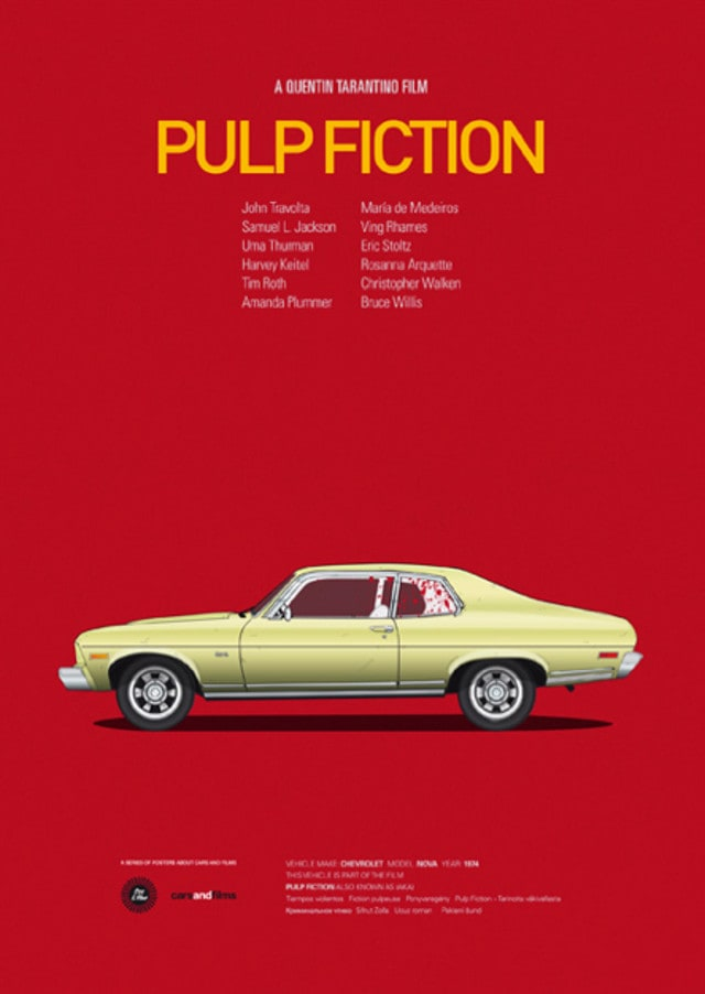 pfc13 - Posters with cars from movies by Jesús Prudencio