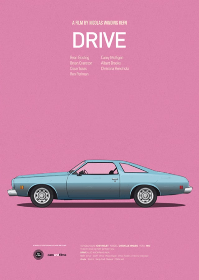 pfc3 - Posters with cars from movies by Jesús Prudencio