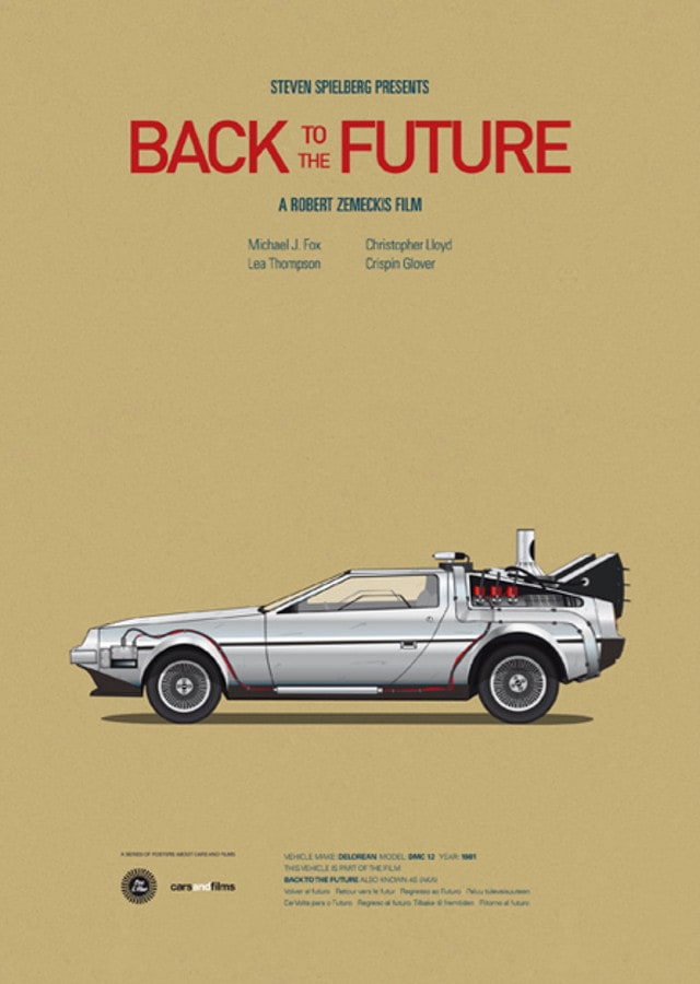 pfc4 - Posters with cars from movies by Jesús Prudencio