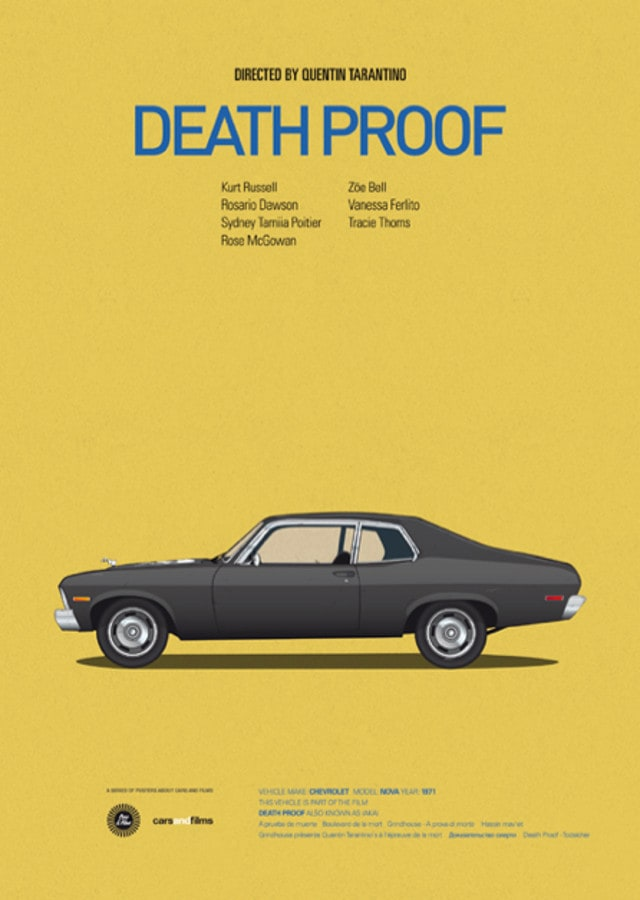 pfc6 - Posters with cars from movies by Jesús Prudencio