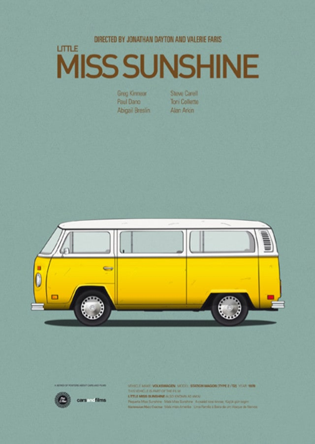pfc8 - Posters with cars from movies by Jesús Prudencio