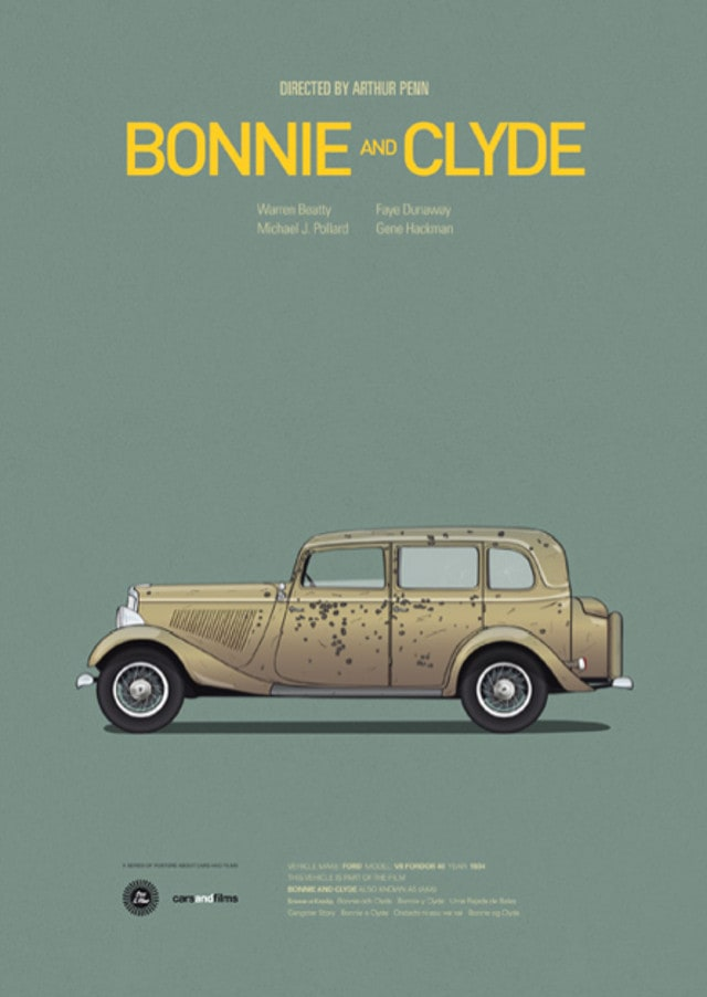 pfc9 - Posters with cars from movies by Jesús Prudencio