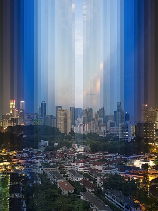 Cityscapes at different time of measurement -city, cities