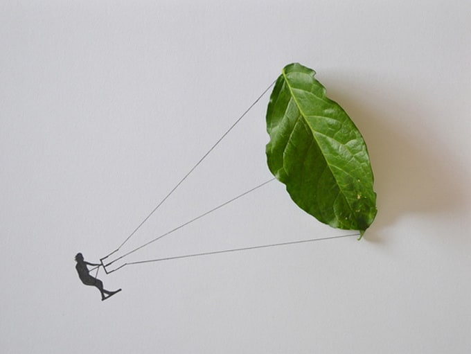 Leaf Art by Tang Chiew Ling -leaves, collages