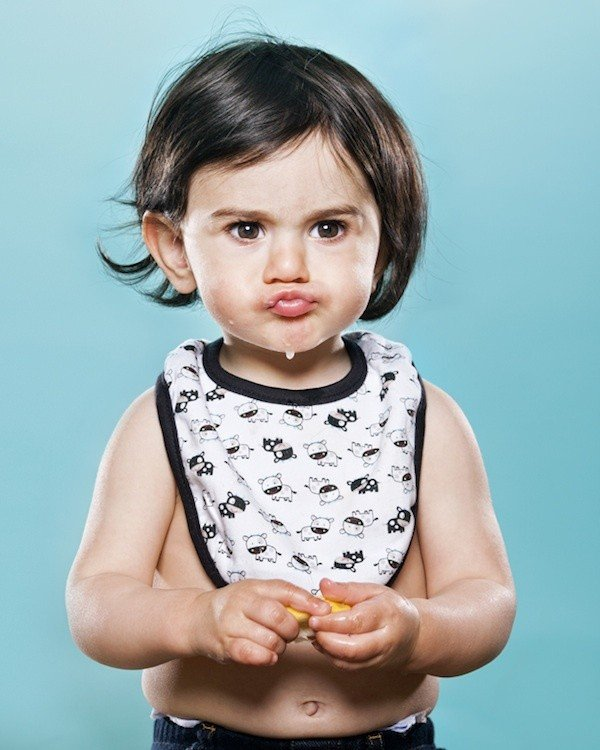 """The first experience of children with lemon"" by David Wile -photoshoot, photographer, photo-project, kids"