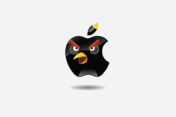 "The series of ""Angry Brands"" by Gregory Jakusheva -nike, google, apple, Adidas"