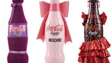 Bottles of Сoca-Cola by fashion designers -italian, designer