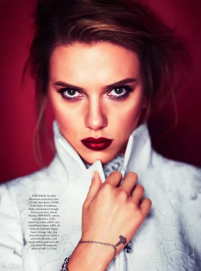 Scarlett Johansson Harper's Bazaar UK October 2013