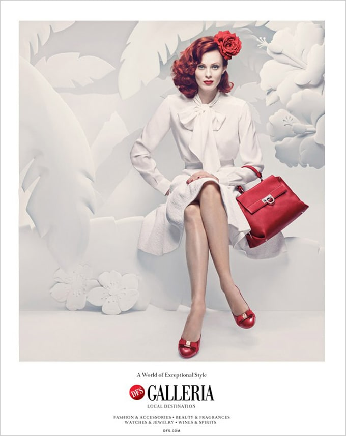 Tatiana Arocha Jeff Nishinaka DFS Galleria 03 - Super-Model Karen Elson and paper sculptures