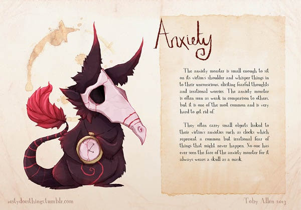 The Monsters of Mental Illness – Illustrations by Toby Allen -