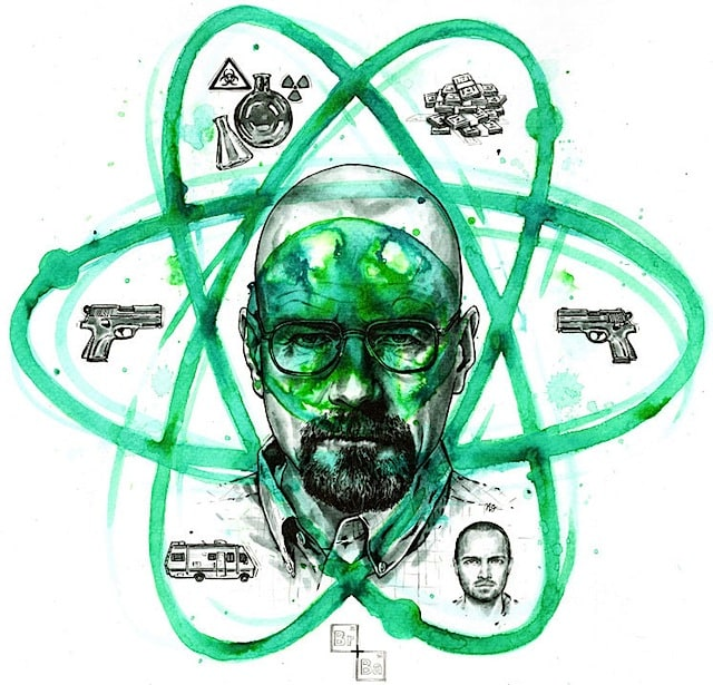 Breaking Bad Illustrations -TV Series, breaking bad