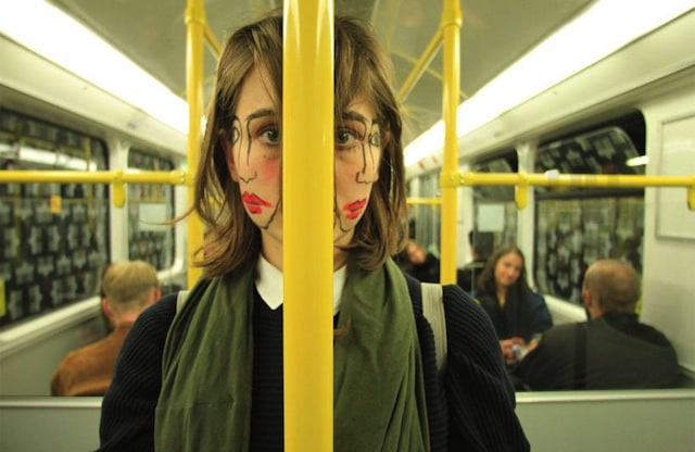 Portraits of A Double-faced Girl by Sebastian Bieniek -