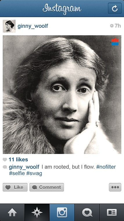 If famous Writers had Instagram -