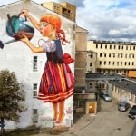 "New Mural by Natalia Rak for ""Folk On The Street"" in Bialystok, Poland"