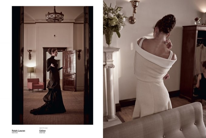 """Photosession """"Like an American"""" for Muse Magazine -retro, photoshoot, Marc Jacobs, Hilary Rhoda, Alexander McQueen"""
