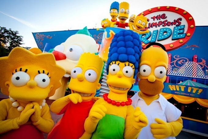 The Simpsons Ride uses a unique blend of authentic Simpsons humo