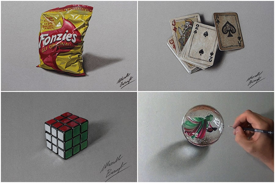Incredible Hyper Realistic Drawings By Marcello Barenghi
