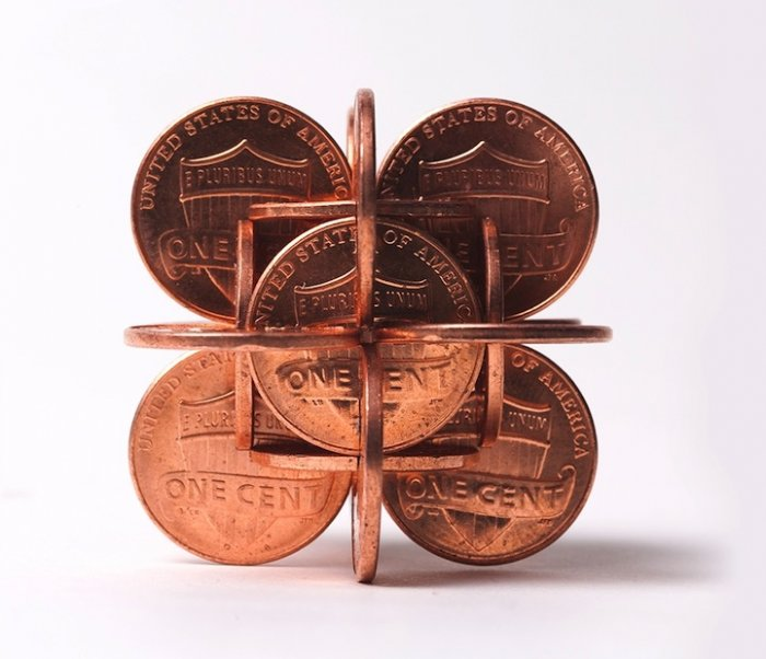 Coin sculptures by Robert Wechsler -sculptures