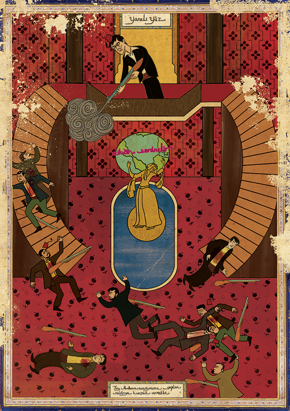 Classic Movies in Miniature Style by Murat Palta -turkish, movies, movie, miniatures, famous, classics, artist