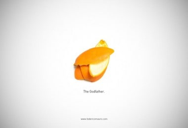 Illustrations of Food from Famous Movies by Federico Mauro