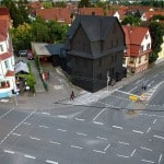"""Haus in Schwarz"" Art Installation"