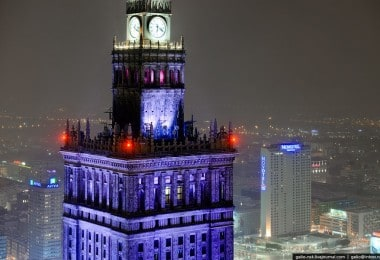 Aerial Photos of Winter Warsaw by Gelio