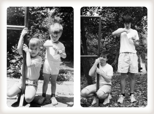 Brothers Recreated Childhood Photos 04 - Brothers Re-Create Pictures of Them – 20 Years Later