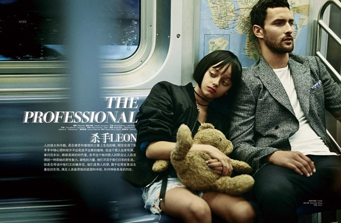 """""""Leon"""" movie in L'Officiel Hommes China -photographer, movie, models, model, fashion-photographer, actor"""