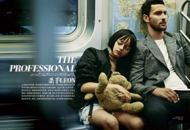 """""""Leon"""" movie in L'Officiel Hommes China 1"""