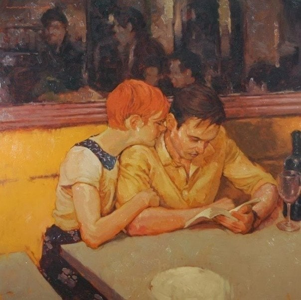 """Paintings """"Tenderness and Love"""" by Joseph Lorusso -painting, artist"""
