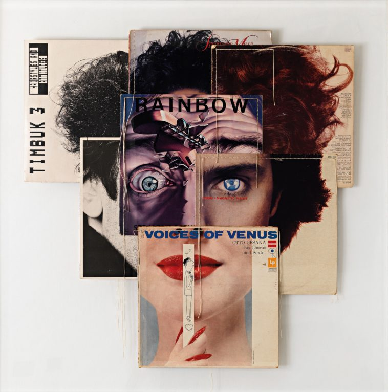 Collages of music albums by Christian Marclay -music albums, music, collage, album