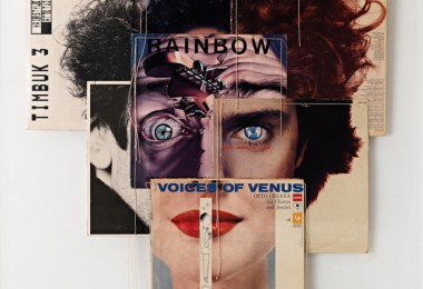 Collages of music albums by Christian Marclay 1