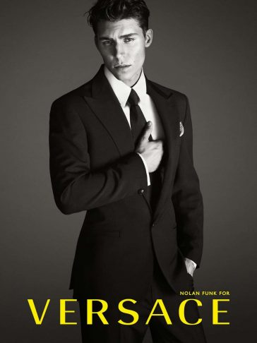 Nolan Funk for Versace Advertising Campaign -photographer, brand, advertising campaign, actors, actor