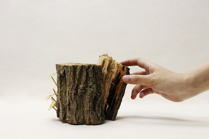 Wooden Book by Pochiko Ho -designer, book