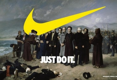 Famous painting and Nike's logo