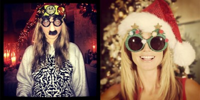 How models Were Celebrating Christmas