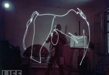 Light Drawings of Pablo Picasso