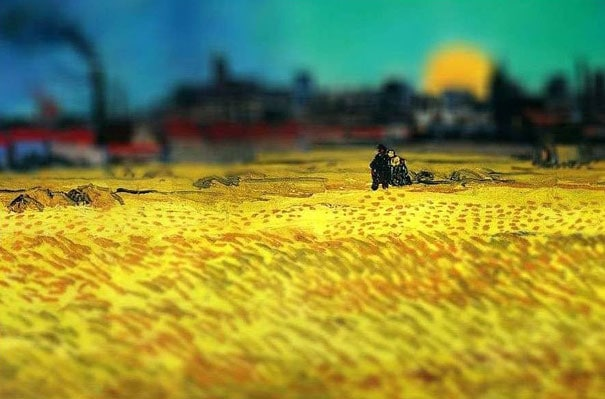 tilt-shift-van-gogh-sunset-wheat