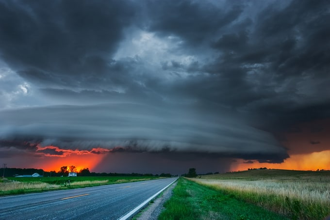 Stormy Nebraska Sunset