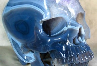 Beautiful Skull Carved From Single Agate Geode