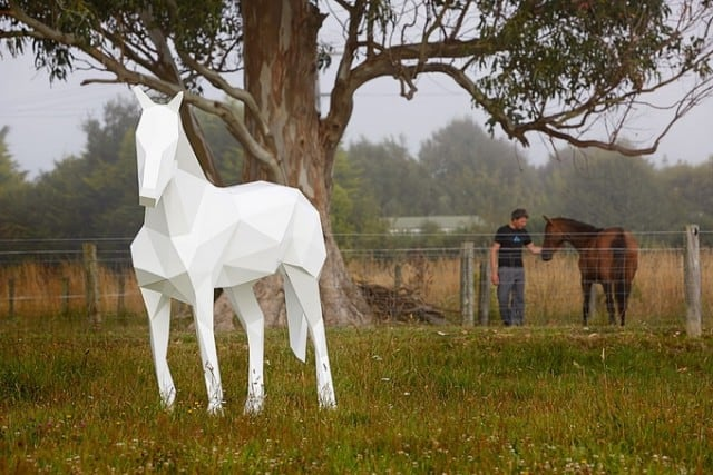 Amazing Geometric Animal Sculptures by Ben Foster -