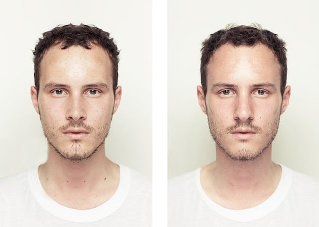 Both Sides Of - Photographer Explores Beauty Through Facial Symmetry -