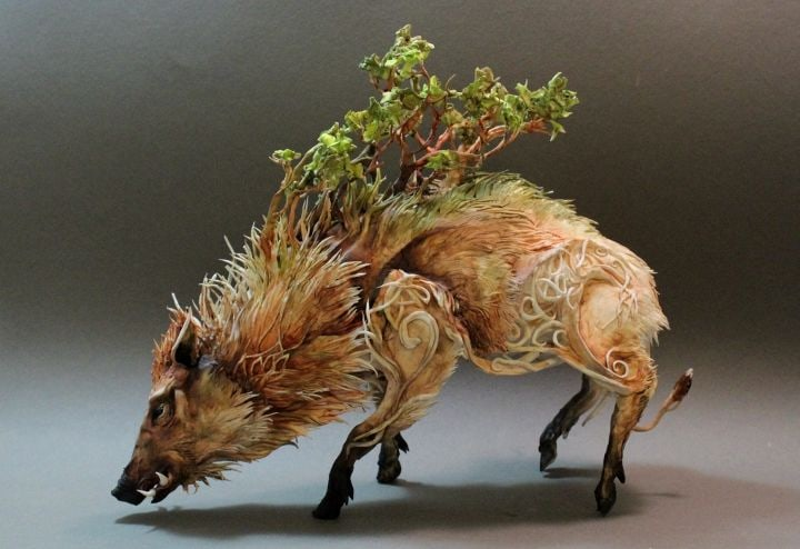 Celtic-Wild-Boar-with-Forest