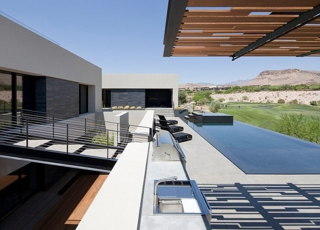 The Diamond Grill Designed Grey House in Las Vegas, USA -