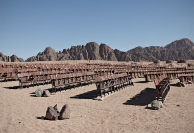 End Of The World Cinema – Abandoned Outdoor Movie Theater in the Desert of Sinai
