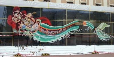 """Nychos """"Dissection Of The Little Mermaid"""" New Mural in Linz, Austria"""