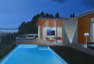 Photorealistic Oil Paintings of luxury Homes by Tom McKinley