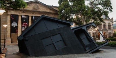 Landed – Suburban House Installation drops from the Sky in Adelaide, South Australia